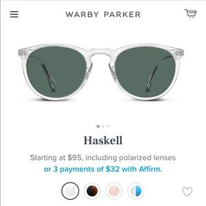 Warby Parker Haskell Sunglasses